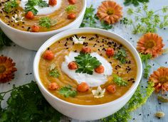 Vegan Gluten free Sweet potato and chickpea soup with coconut cream