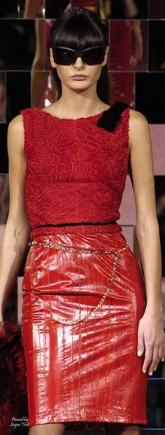 Dolce & Gabbana - Fall  2004 Milan Stefano Gabbana, Little Red Dress, Peplum Dress, Formal Dresses, Stylish, Fall, Womens Fashion, Leather, Collection