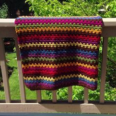 Color Inspiration :: Granny Stripe Blanket in gorgeous jewel tones, crocheted by rainyday*knitter from Attic24's free pattern:  http://attic24.typepad.com/weblog/granny-stripe.html   . . . .   ღTrish W ~ http://www.pinterest.com/trishw/  . . . .   #crochet #afghan #throw