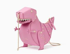 A pink T-Rex purse, that& what more women need on their arms. Now they have a great choice in this Whimsies T-Rex Crossbody Purse from Kate Spade. My Bags, Purses And Bags, Fashion Bags, Fashion Accessories, Sacs Design, Novelty Bags, Animal Bag, Luxury Purses, Unique Purses