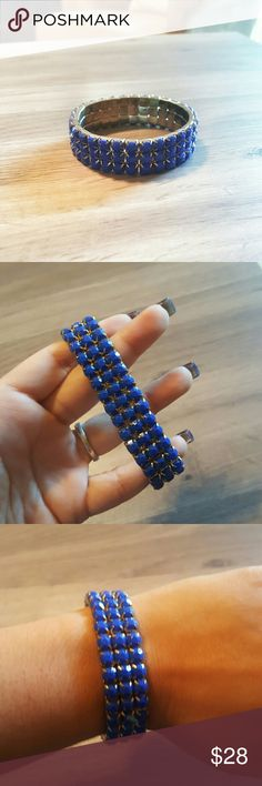 NEW Cobalt Blue bracelet Gorgeous blue and gold bracelet. Beautiful color. Stretch to fit design. Macy's Jewelry Bracelets
