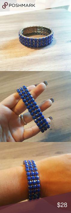 NEW Cobalt Blue bracelet Gorgeous blue and gold bracelet. Beautiful color. Stretch to fit design. Macy's Jewelry Bracelets