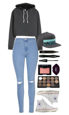 """""""Outfit 191"""" by xkhione on Polyvore featuring Glamorous, Converse, Billabong, NARS Cosmetics, Lime Crime and Lancôme"""