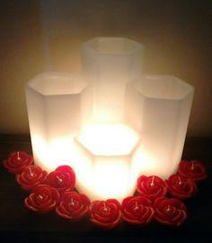 Conjunto de Luminárias Sextavadas excelente opção para decoração de interiores, salões de festas, , igrejas, decoração para casamentos, e outros. magiadaluz08net