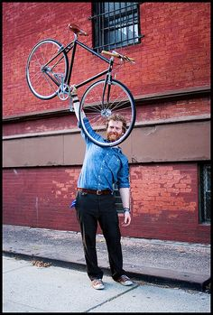Glen Hansard & His New Bike.. He's one of the nicest people I've met. I'm hoping to have another run in someday.
