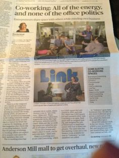Link Coworking in the Austin American Statesman!