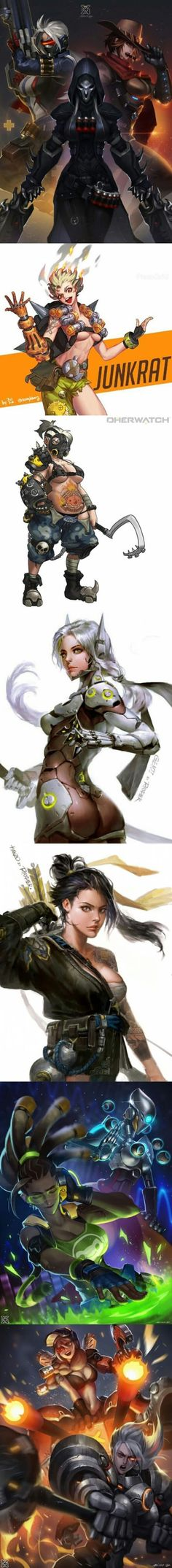 Male Overwatch Heroes as Females