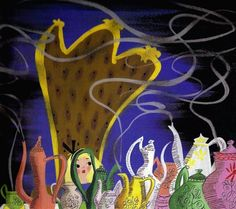 Concept art by Mary Blair for Disney's 'Alice in Wonderland'