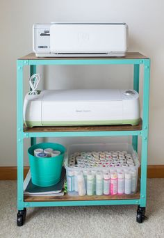 office and craft room storage, printer cart
