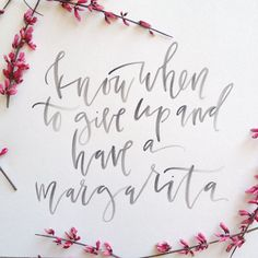 Calligraphy Happy Hour Printable // Margarita by afabulousfete