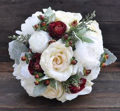 Victorian Wedding Decorations Bouquet by Hollysflowershoppe