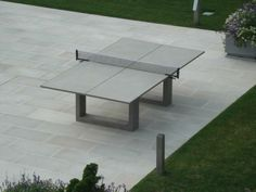 concrete ping pong & dining table