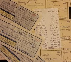 Look closely at that total on the white note card.  And that's not even all of it.
