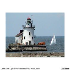 Lake Erie Lighthouse Summer Postcard SOLD-Thank you to the buyer in California!