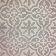 Marockanskt kakel Marrakech ljusgrå vit fyra I like how close the tiles are - good option for bathroom tiles