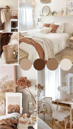 Room Design Bedroom, Room Ideas Bedroom, Home Decor Bedroom, Girls Bedroom, Living Room Decor, Brown Bedroom Decor, Bedroom Neutral, Bedroom Colors, Mocha Bedroom