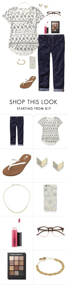 """""""When you feel like you aced your first college quiz 😱😃"""" by oliviacat1215 ❤ liked on Polyvore featuring Patagonia, Hollister Co., Volcom, FOSSIL, Astley Clarke, Kate Spade, MAC Cosmetics, Wildfox, Sonia Kashuk and Alex and Ani"""