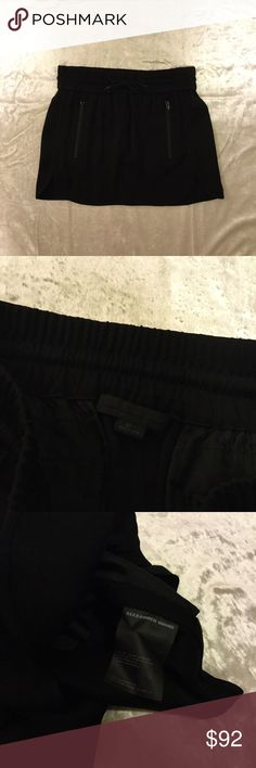 NWOT Alexander Wang Black Sporty Mini Skirt Brand new without the tags, perfect condition. Alexander Wang Skirts Mini