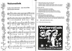 Písnička: Večerníček Kids Songs, Ukulele, Piano, Bullet Journal, Content, Education, School, Musica, Carnivals