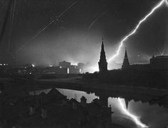 German air raid on Moscow in 1941