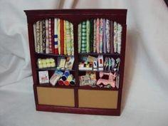 Dolls House Miniatures - Haberdashery Shelves