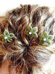 sage green mini flower pins etsy