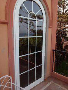 Puertas Con Arco De Medio Punto En Aluminio Lacado Blanco