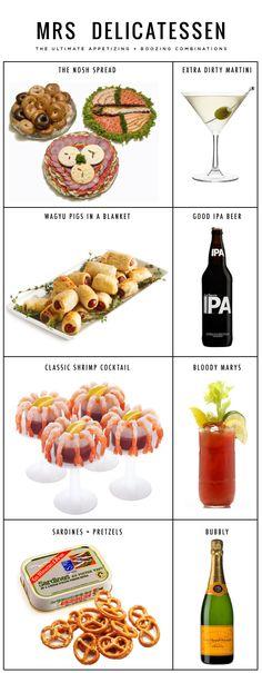 The ultimate booze + appetizer guide (Mrs Delicatessen)
