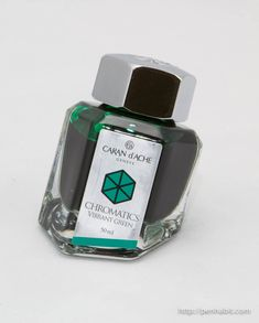 Caran d'Ache Chromatics Vibrant Green: A really expensive ink that isn't really all that great.