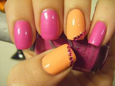 No Nekkid Nails - China Glaze Peachy Keen and Orly Flirty