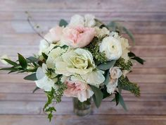 Soft pink and Ivory