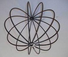 Rustic Garden Wrought Iron Art Balls Flower Gardens Metal Trellis Topiary | eBay