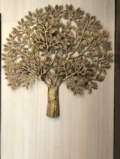 Brass finished tree sculpture from Ambassador Vietnam for interior decoration. Copper Light Fixture, Copper Lighting, Copper Accessories, Tree Sculpture, Exterior Lighting, Wall Sconces, Vietnam, Interior Decorating, Bronze