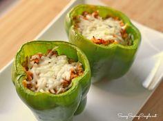 Chicken Cacciatore Stuffed Bell Peppers Recipe #NewTraDish