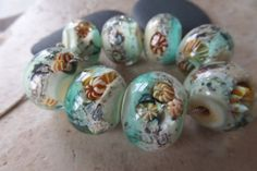 stoursglass  Ocean Inspired Lampwork Beads Real by stoursglass, $30.00