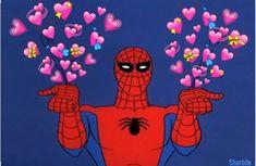 #spiderman #marvel Kermit, Spiderman Meme, Spiderman Marvel, Avengers, Funny Relatable Memes, Funny Jokes, Sapo Meme, Heart Meme, Cute Love Memes