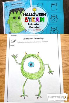 Get started with Halloween STEAM Challenges with this FREE Monster STEAM Activity. Perfect for parents, elementary teachers, and STEAM Clubs! Have an amazing Halloween in your classroom! Steam Activities, Halloween Activities, Halloween Crafts, Activities For Kids, Elementary Drawing, Classroom Crafts, Classroom Activities, Classroom Ideas, Library Lesson Plans