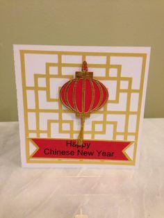 """** Chinese New Year Card """"Lantern"""" Diy Cards, Handmade Cards, New Year Card Making, Holiday Cards, Christmas Cards, Chinese New Year Card, Happy New Year Cards, Teaching Aids, Chinese Lanterns"""