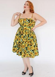 Bernie Dexter Paris Dress in Sunflower Print