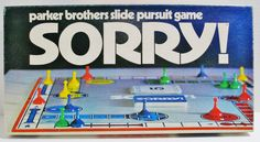 Parker Brothers Vintage SORRY Game - a 1972 Slide Pursuit Game - Made in USA #ParkerBrothers..... Visit all of our online locations..... www.stores.ebay.com/ourfamilygeneralstore ..... www.bonanza.com/booths/Family_General_Store ..... www.facebook.com/OurFamilyGeneralStore