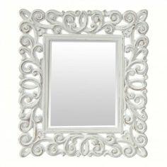 Espejo Decorativo Antiguo Blanco Le Cormier 80 cm