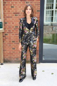 Alexa Chung Floral Gucci Suit