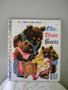 1970s childrens book / The Three Bears Little Golden Book. $3.50, via Etsy.