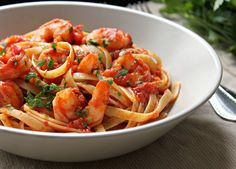 Shrimp Fra Diavolo or Shrimp in a Spicy Red Sauce with Lots of Garlic by kitchensnaps #Sprimp #Pasta #Barli #Easy