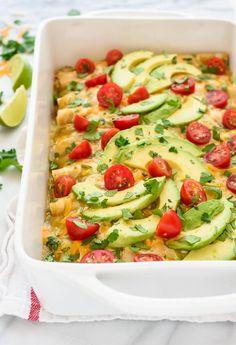 Green Chile Chicken Enchiladas from @WellPlated