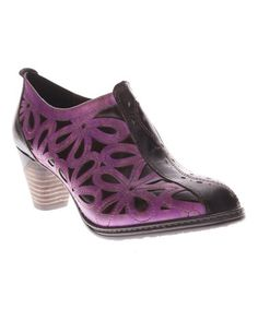 It's a little bright, but how gorgeous is this Purple Arabella Leather Bootie on #zulily! #zulilyfinds