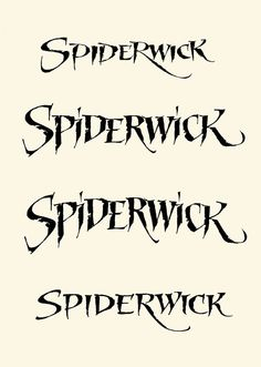 Expressive Calligraphy for a Movie Title: Spiderwick on Behance