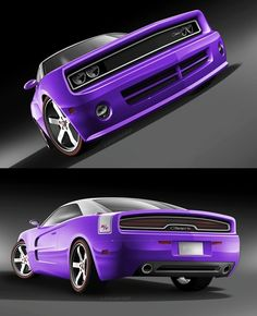 2013 dodge charger car-mobile....if I could get this in a little darker shade of purple I'd be in love