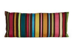 One Kings Lane - International Antiques & Accents - Ribbon Striped Pillow