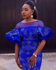 Likes, 9 Comments – Aso Ebi Styles (Aso Ebi Bella) on Insta… Diyanu - Aso Ebi Styles African Lace Styles, African Lace Dresses, African Dresses For Women, African Attire, African Wear, African Women, 50s Dresses, Ankara Styles, Elegant Dresses